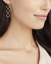 Three Tier Circle Drop Diamond Earrings, METALLIC, hi-res