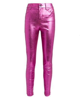 Madrid Metallic Leather Pants, PINK, hi-res