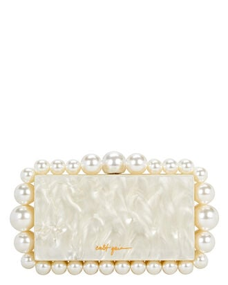 Eos Marbled Acrylic Clutch, WHITE, hi-res