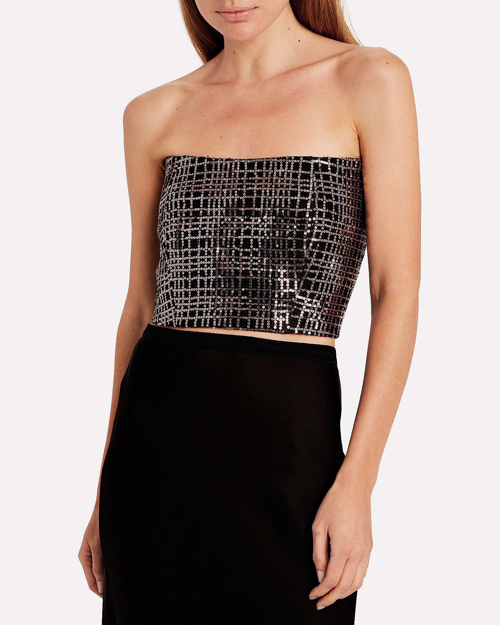 Sequin Mesh Corset Top, BLUSH, hi-res