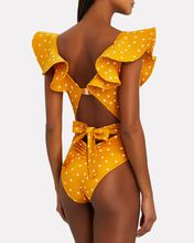 Cenote Diver One-Piece Swimsuit, MARIGOLD, hi-res