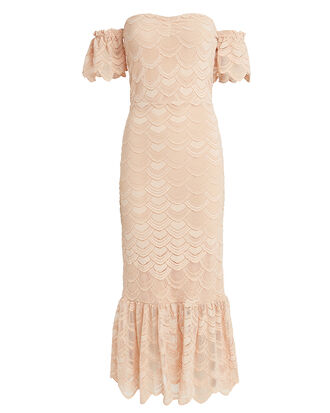 Victorian Flutter Midi Dress, BLUSH, hi-res