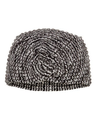 Knit Turban, BLK/WHT, hi-res