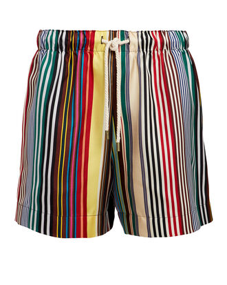 Rainbow Striped Shorts, RAINBOW STRIPE, hi-res