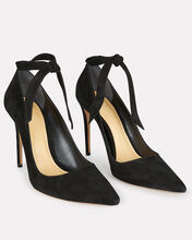 Clarita 100 Suede Pumps, BLACK, hi-res