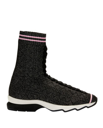 Rockoko High-Top Sock Sneakers, BLACK, hi-res