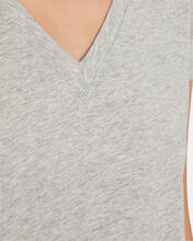 Classic V-Neck Jersey T-Shirt, GREY-LT, hi-res