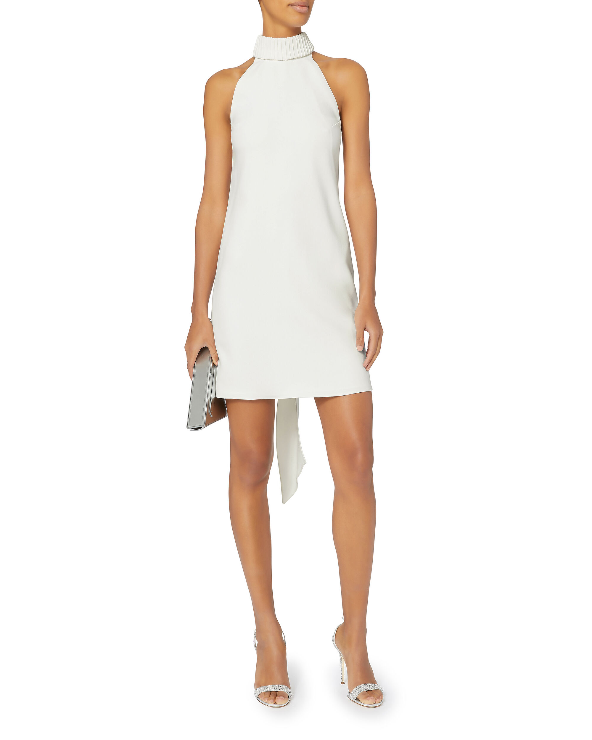 Bow Back Shift Dress, IVORY, hi-res