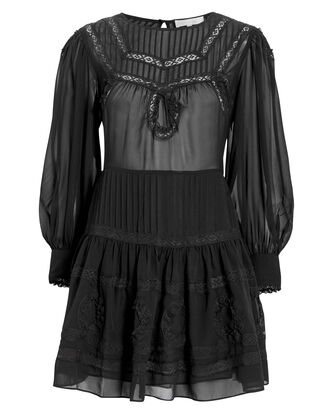Mallory Mini Dress, BLACK, hi-res
