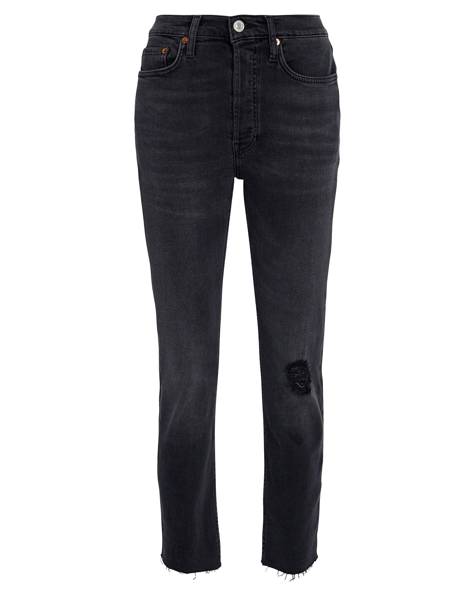 High-Rise Ankle Cropped Jeans, FADED BLACK DENIM, hi-res