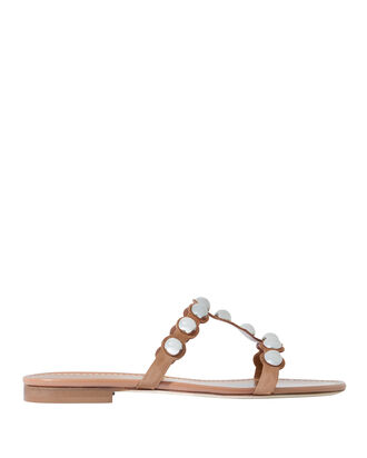 Lia Studded Suede Sandals, BEIGE, hi-res