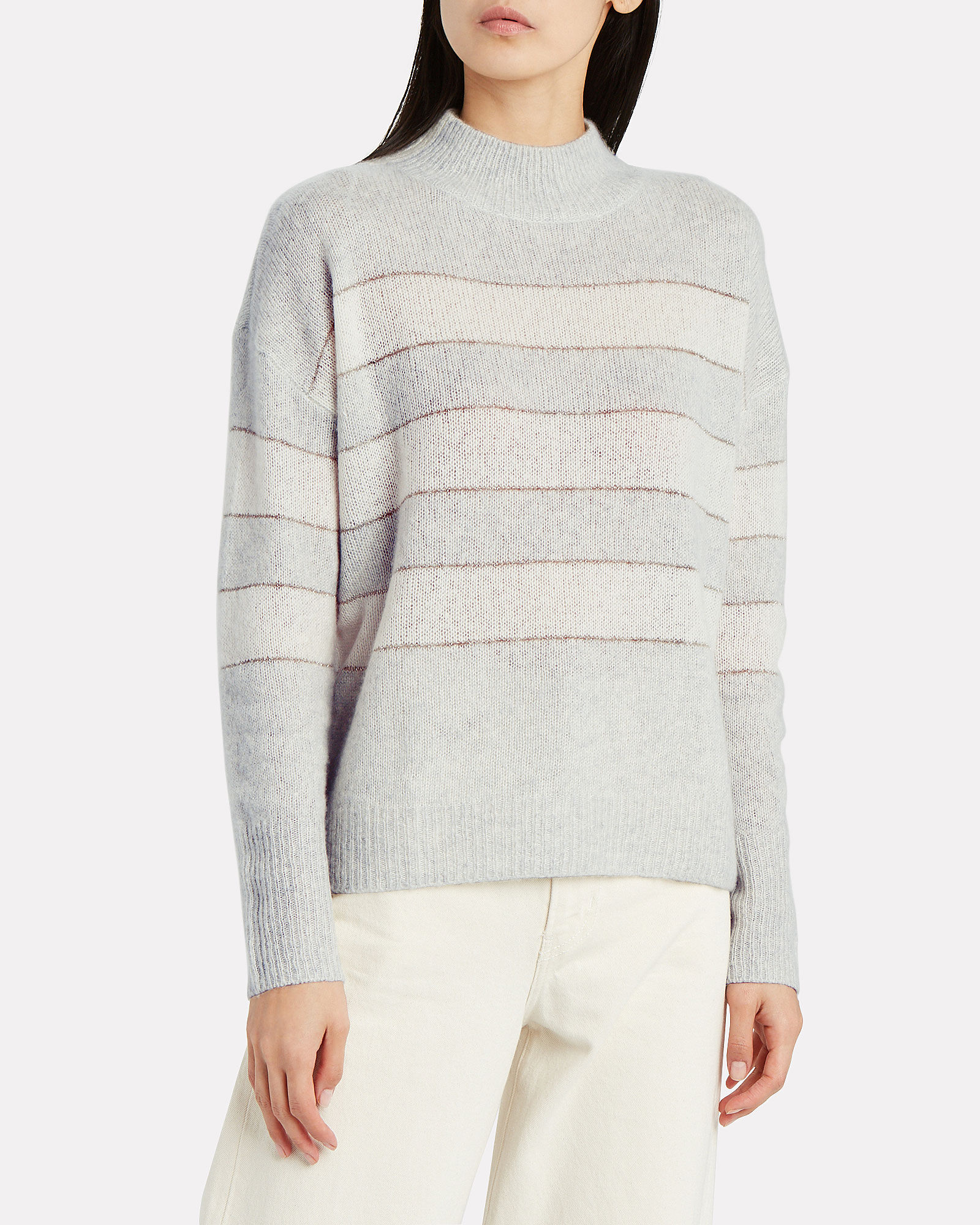 Ellise Striped Silk-Cashmere Sweater, MULTI, hi-res