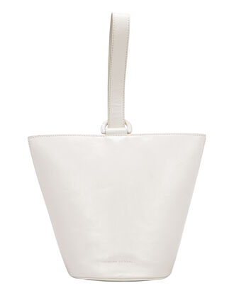 Dolly White Leather O-Ring Top Handle Bag, WHITE, hi-res