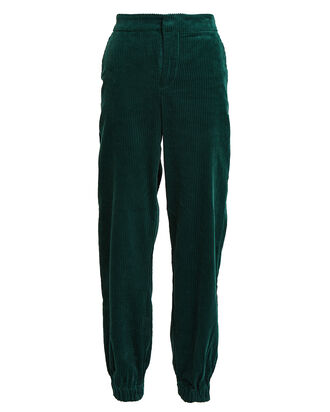 VelvaGZ Corduroy Joggers, FOREST GREEN, hi-res