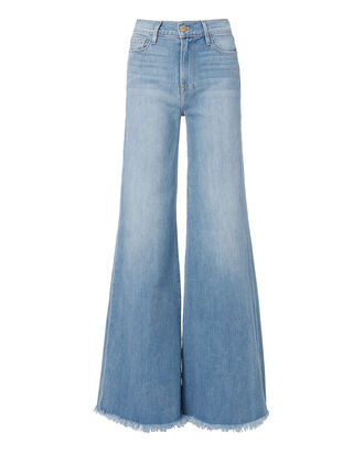 Le Palazzo Denim Pants, DENIM, hi-res