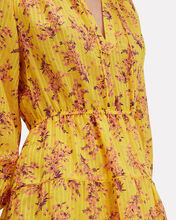 Brienne Floral Mini Dress, YELLOW, hi-res