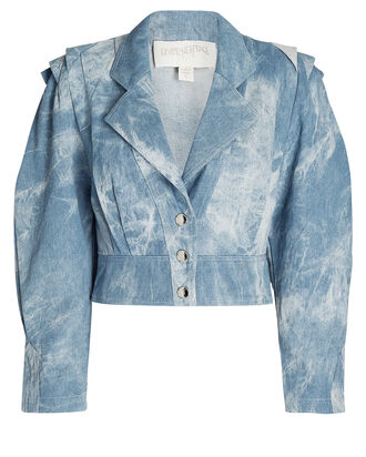 Tie-Dye Denim Jacket, MULTI, hi-res
