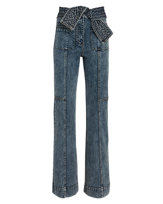 Wade Tie-Waist Jeans, MEDIUM WASH DENIM, hi-res