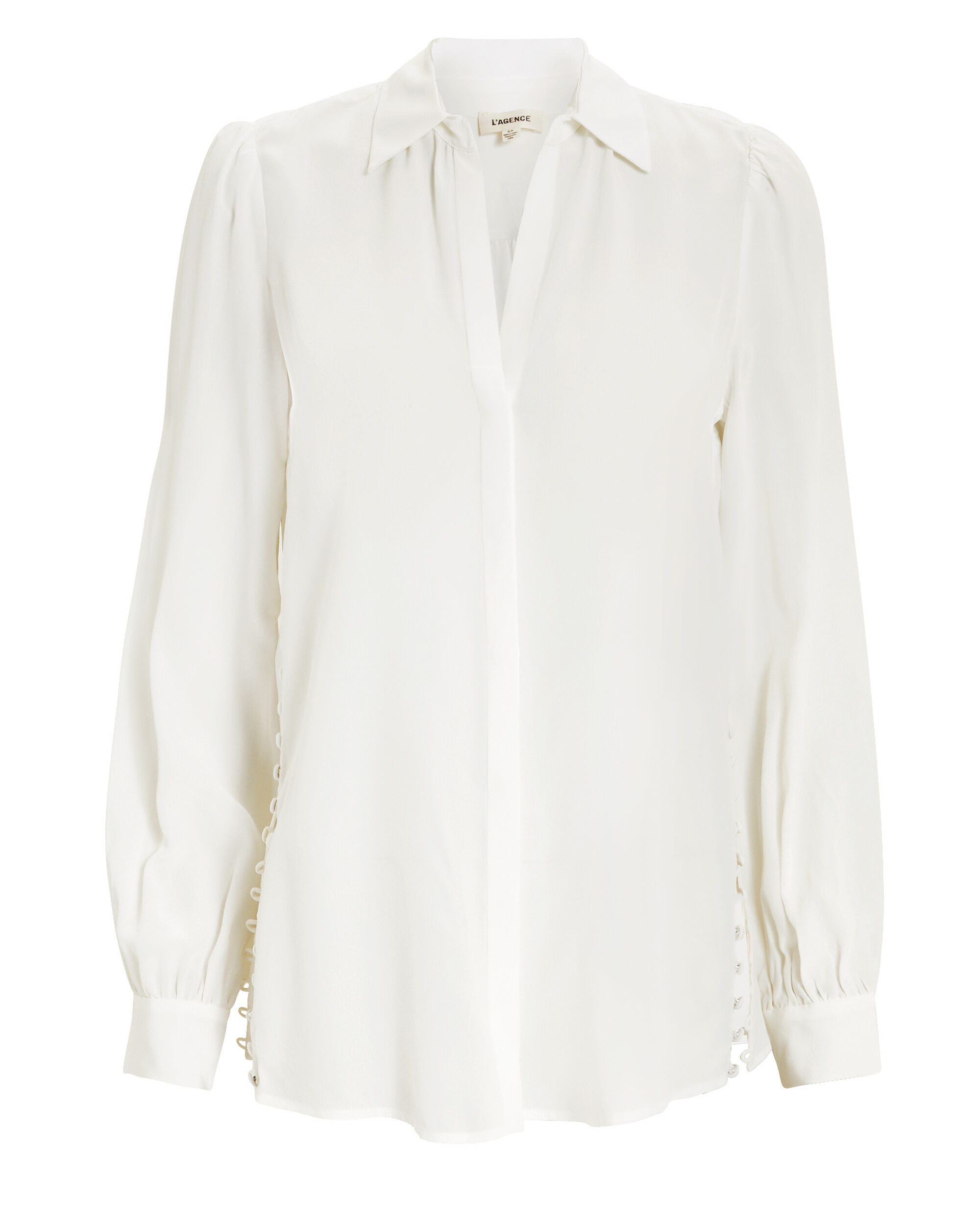 Cinzia Side Button Tunic, IVORY, hi-res