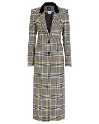 Brando Tailored Houndstooth Coat, BLACK, hi-res