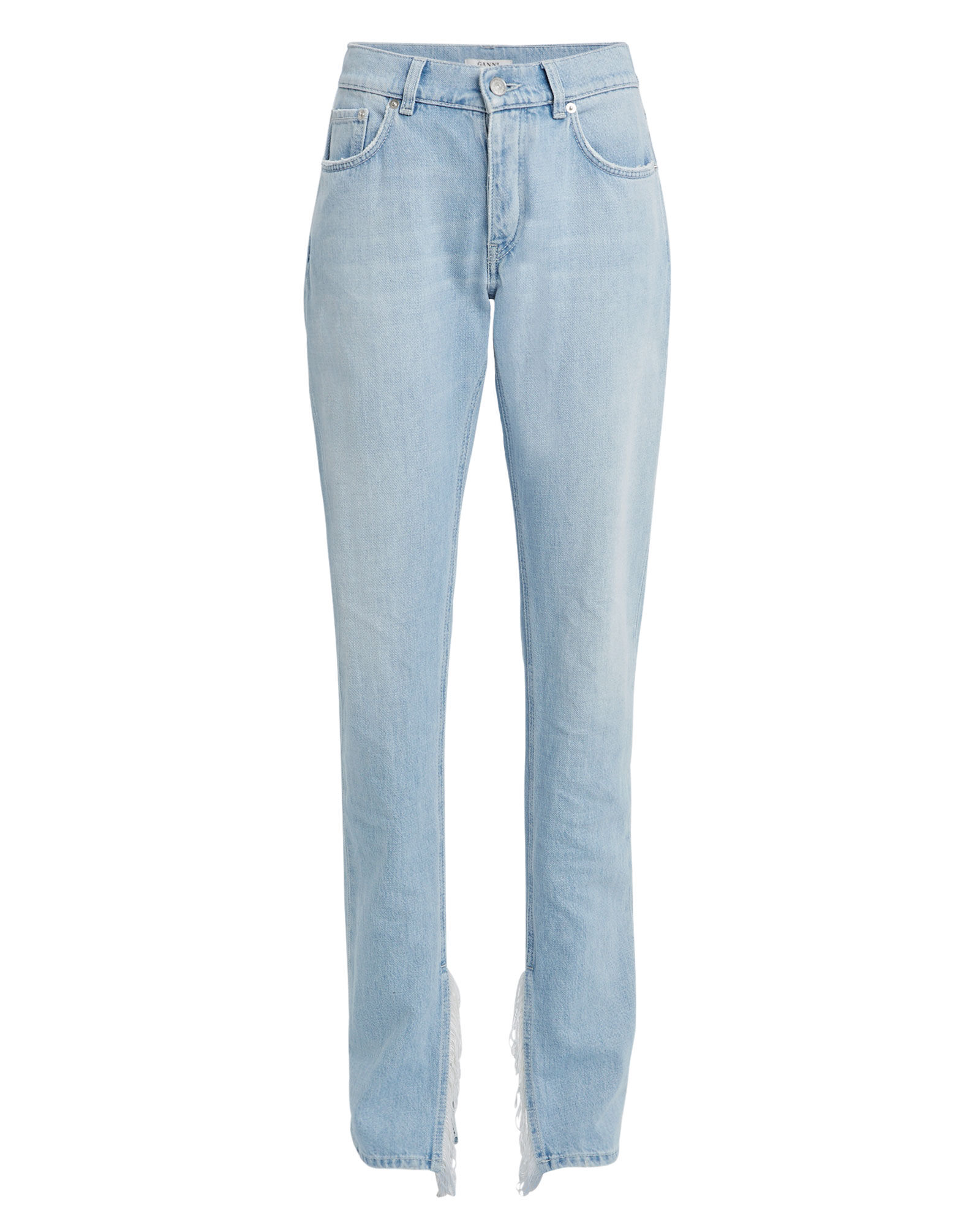 Fringe Straight Leg Jeans, DENIM-LT, hi-res