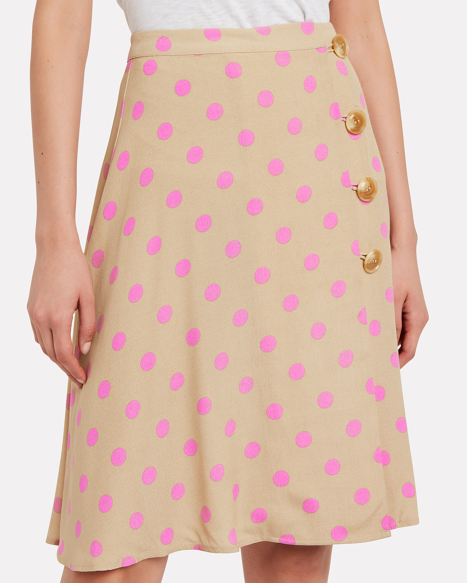 Ono Polka Dot Wrap Skirt, MULTI, hi-res