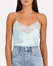 Adriana Lace-Trimmed Silk Camisole, , hi-res