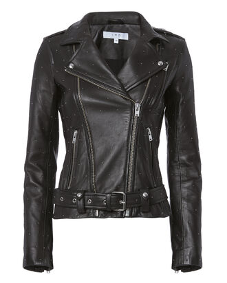 Jamie Studded Moto Jacket, BLACK, hi-res