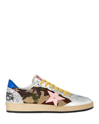 Ball Star Camouflage Sneakers, OLIVE/ARMY, hi-res