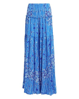 Elise Paisley Wide Leg Pants, BLUE/WHITE PAISLEY, hi-res