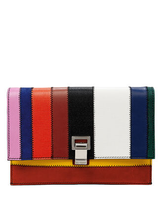 Rainbow Patchwork Lunch Bag Crossbody, RAINBOW PATCHWORK LEATHER, hi-res