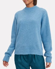 Blue Easy Pullover Sweater, BLUE, hi-res