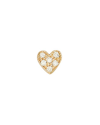 Heart Single Stud Earring, GOLD, hi-res