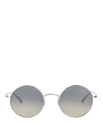 After Midnight Round Sunglasses, SILVER, hi-res