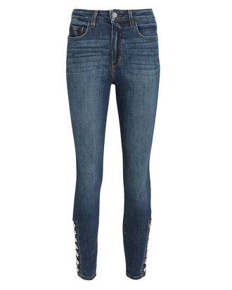 Piper Ankle Hem Button Jeans, DARK BLUE DENIM, hi-res