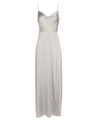 Taylor Silk Georgette Maxi Dress, GREY, hi-res