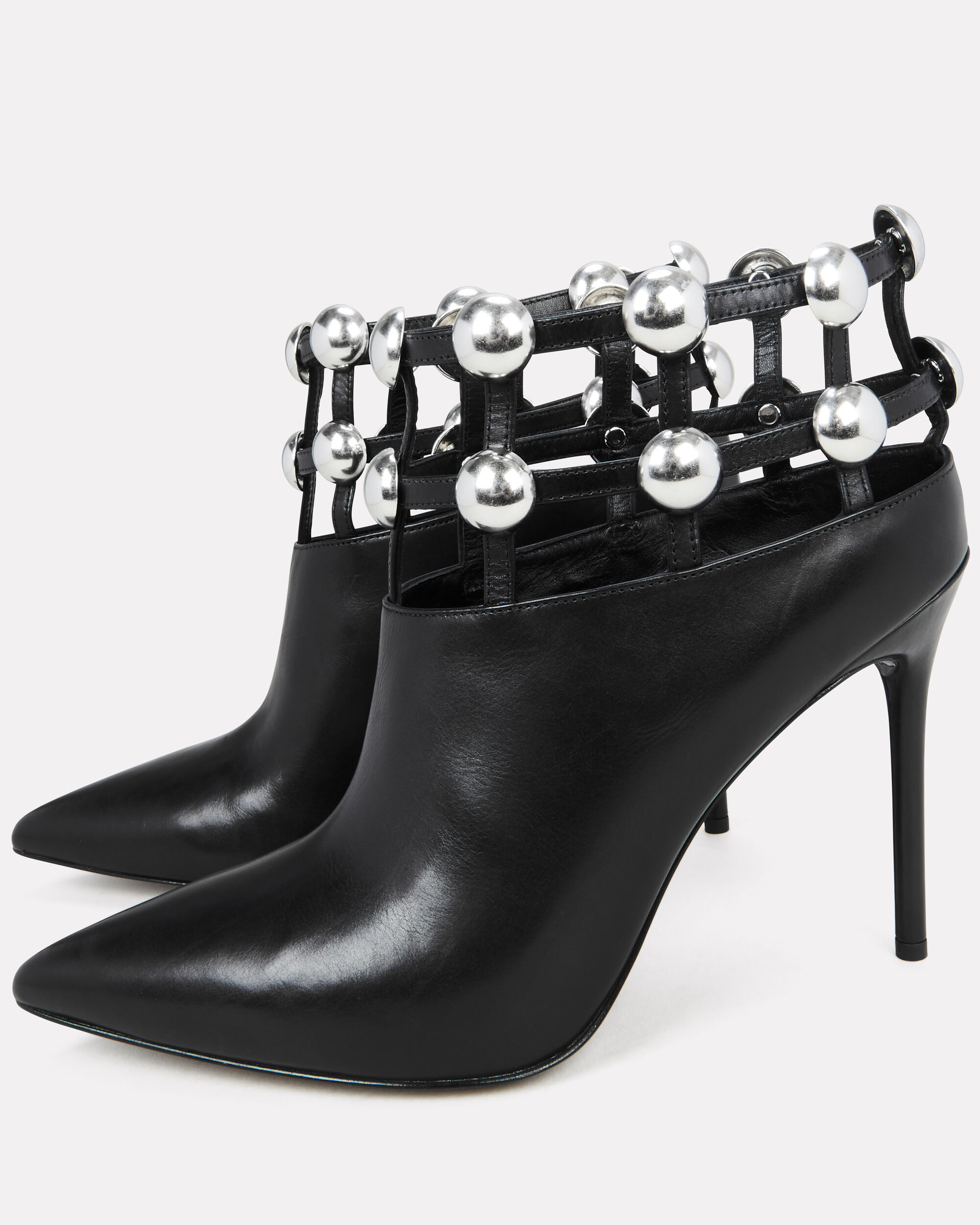 Tina Studded Cage Booties, BLACK, hi-res
