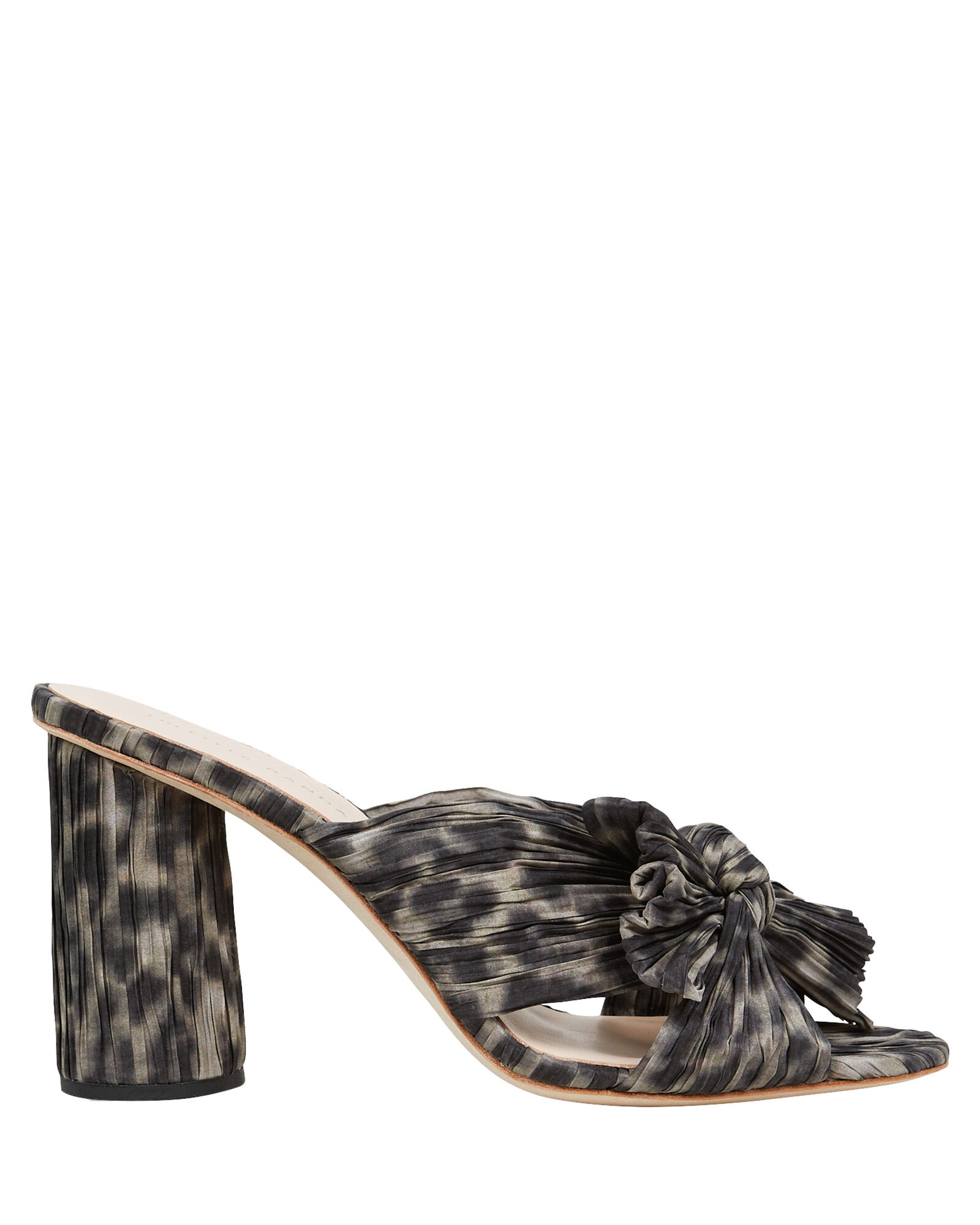 Penny Knotted Leopard Slide Sandals, BROWN, hi-res