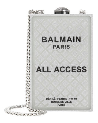 All Access Minaudiere Clutch, SILVER/BLACK, hi-res