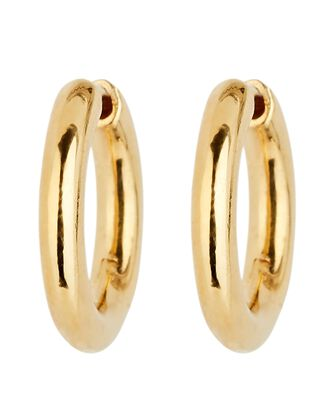 Polo Huggie Hoop Earrings, GOLD, hi-res
