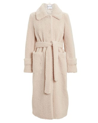 Lottie Faux Shearling Coat, IVORY, hi-res