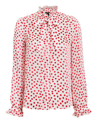Emile Polka Dot Blouse, MULTI, hi-res