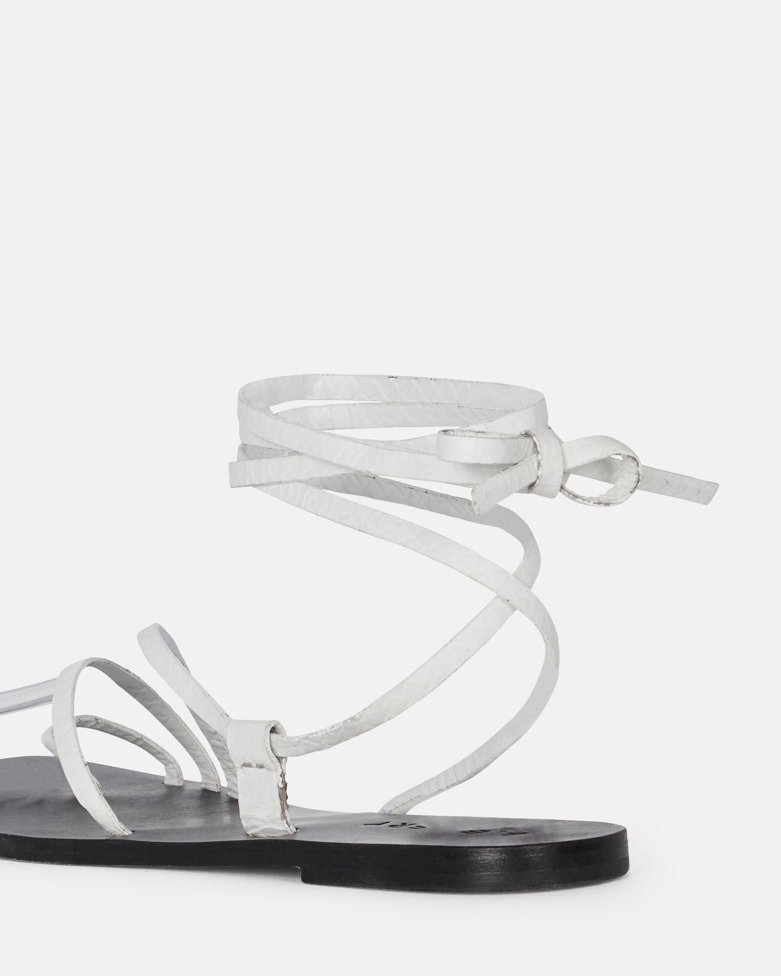 Beau Ankle Tie Leather Sandals, WHITE, hi-res