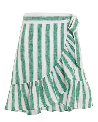 Etienne Striped Wrap Skirt, MULTI, hi-res