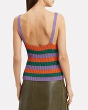 Lurex Knit Tank, PURPLE/ORANGE/GREEN, hi-res