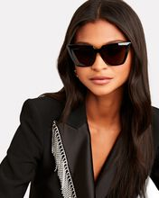 Square Cat-Eye Sunglasses, BLACK, hi-res