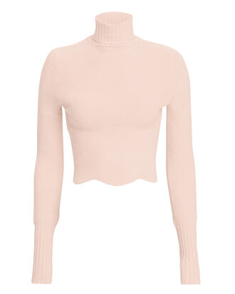 Zemirah Cropped Sweater, PINK, hi-res