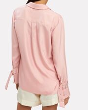 Buckle Sleeve Blouse, BLUSH, hi-res