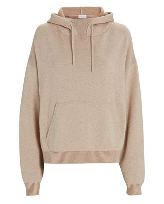 Hooded Wool-Cashmere Sweater, BEIGE, hi-res