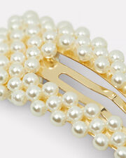 Wendy Pearl Hair Clip, IVORY/GOLD, hi-res